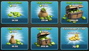 cara membeli gems clash of clans