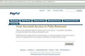 restore paypal limited