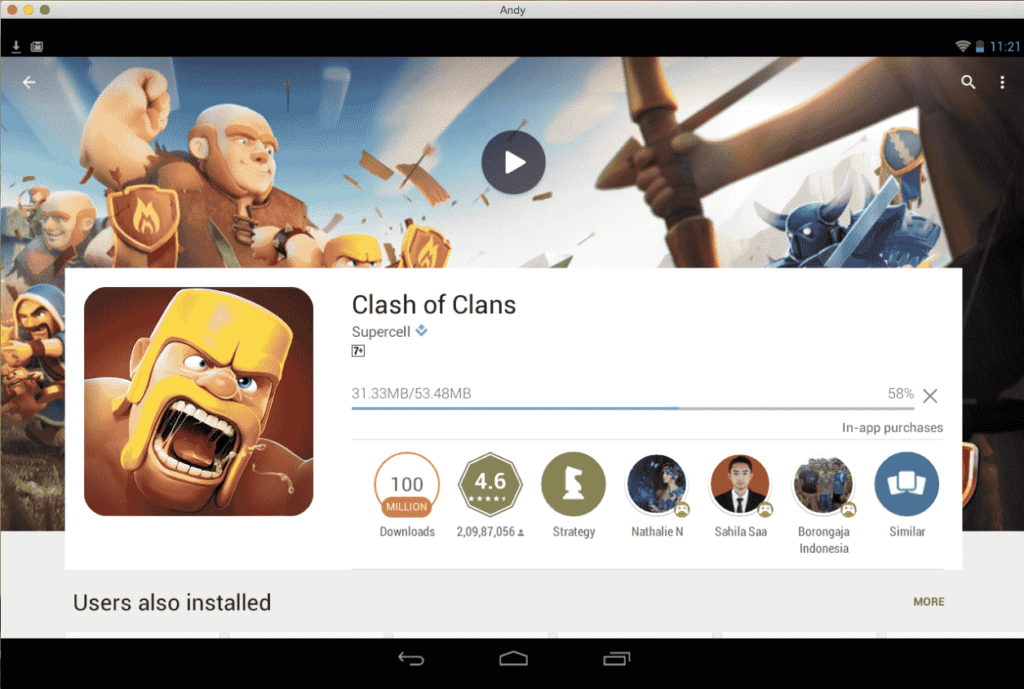 download coc via playstore