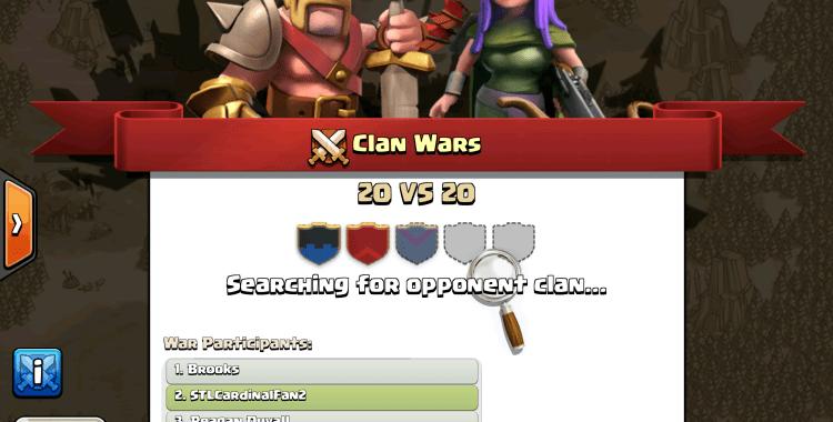 pencarian clan war