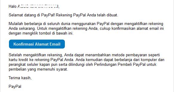 klik tombol konfirmasi alamat email