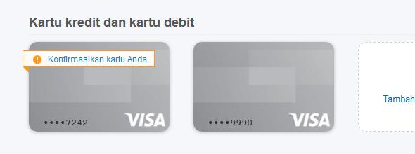 klik gambar vcc untuk mengkonfirmasikan kartu anda